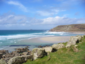 Sennen beach, west of Penzance