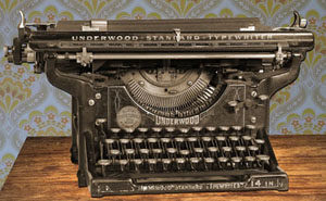 A typewriter - the way writing was done in the olden day