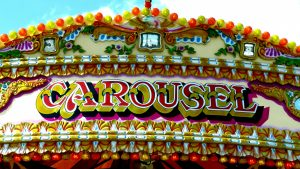 lovely colourful carousel