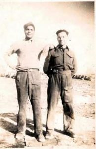 Dad and 'Hussein' in Benghazi 1943