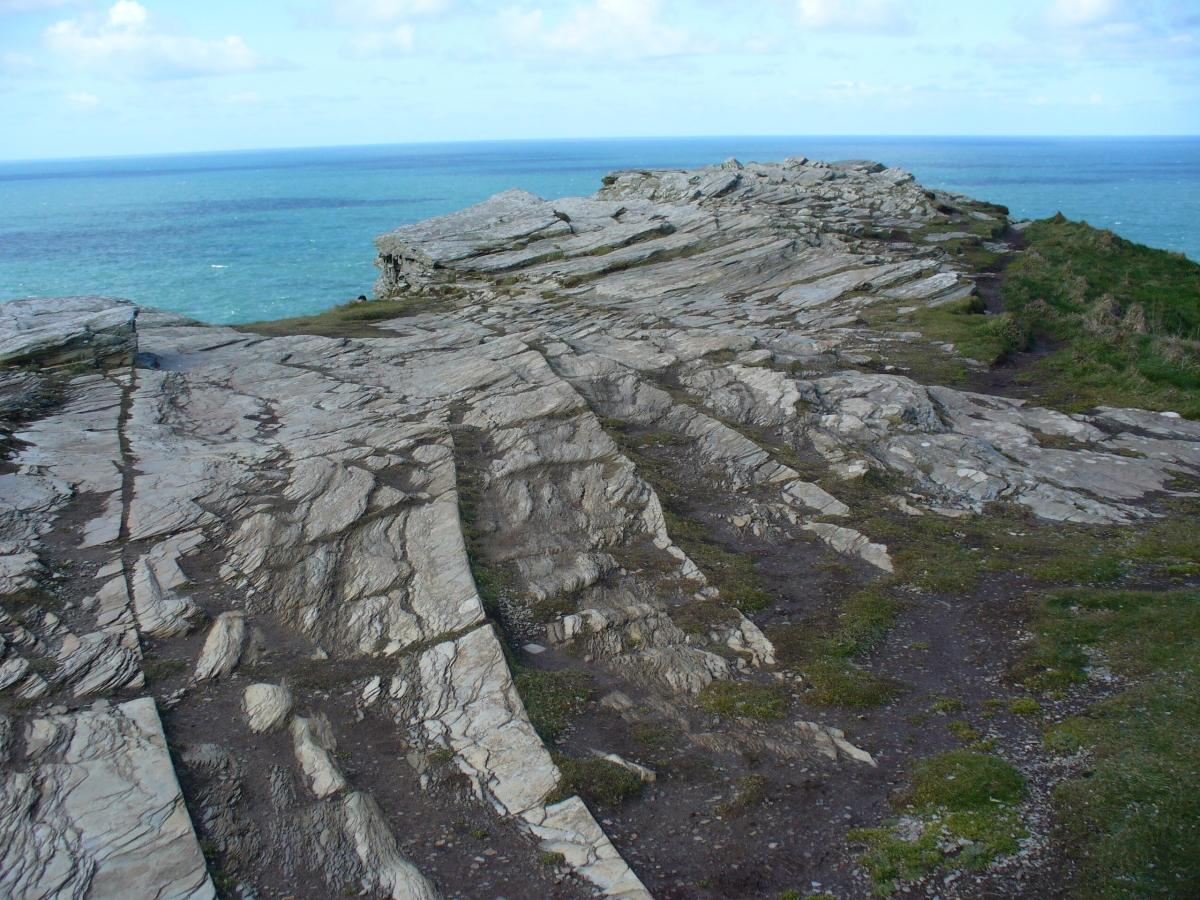 Rock Formations at Tintagel, Cornwall